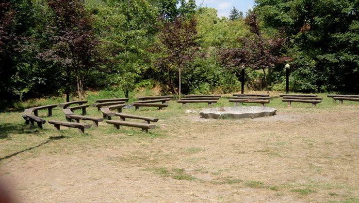 Edzőtábor, tábor - Velence Ifjúsági Tábor - tűzrakóhely