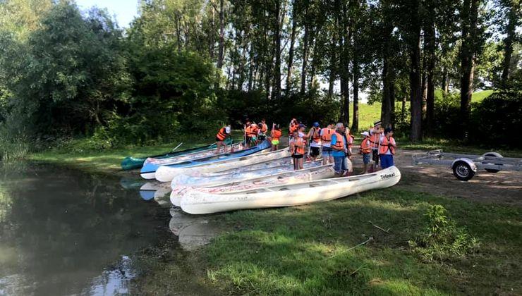 Edzőtábor, táborhelyszín - Dunaszeg Ifjúsági Tábor - kajakozás 2