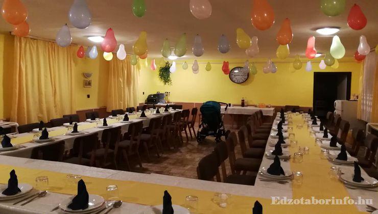 Edzőtábor - Aggtelek Ifjúsági Tábor - Étkező