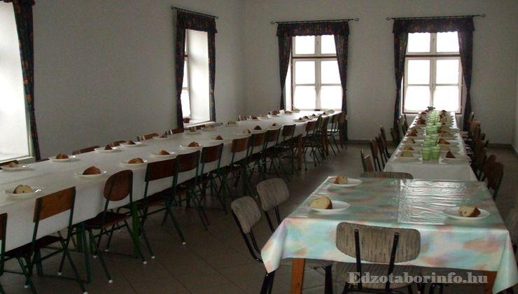 Edzőtábor - Tápiószentmárton IfjúságiTábor - Sportcsarnok - étkezés