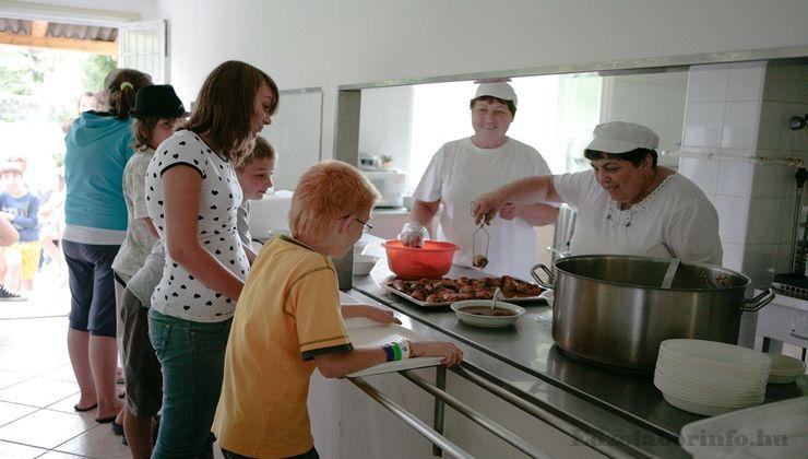 Edzőtábor, táborhely - Mezőkövesd Ifjúsági Tábor - Étkezés