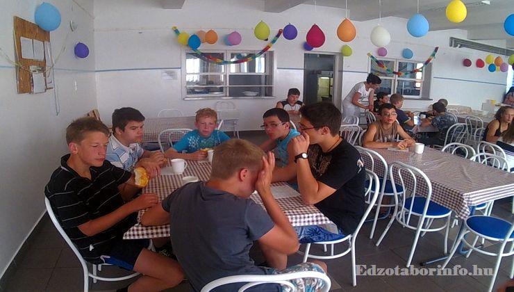 Edzőtábor - Jászboldogháza Ifjúsági Tábor - étkezés