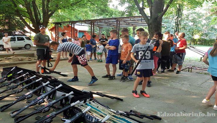 Edzőtábor - Tokaj Ifjúsági Tábor - lézerharc